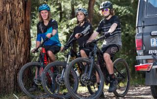Ride Yarra Ranges - Mountain bike riders at Warburton after riding