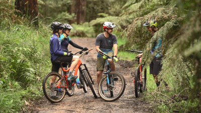 Ride Yarra Ranges - Mountain bikers at Silvan