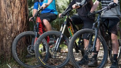 Ride Yarra Ranges - Mountain bike riders at Warburton Community for Consultation