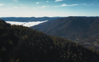 View overlooking Warburton towards Mount Donna Buang