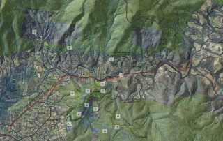 Warburton MTB Destination map