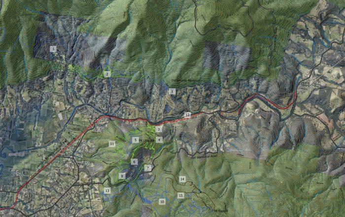 Warburton MTB Destination map